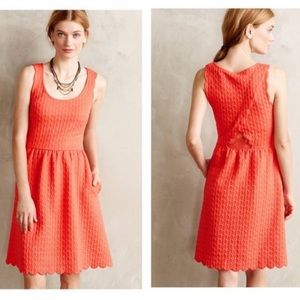 Anthropologie | Maeve Cary Scalloped Dress